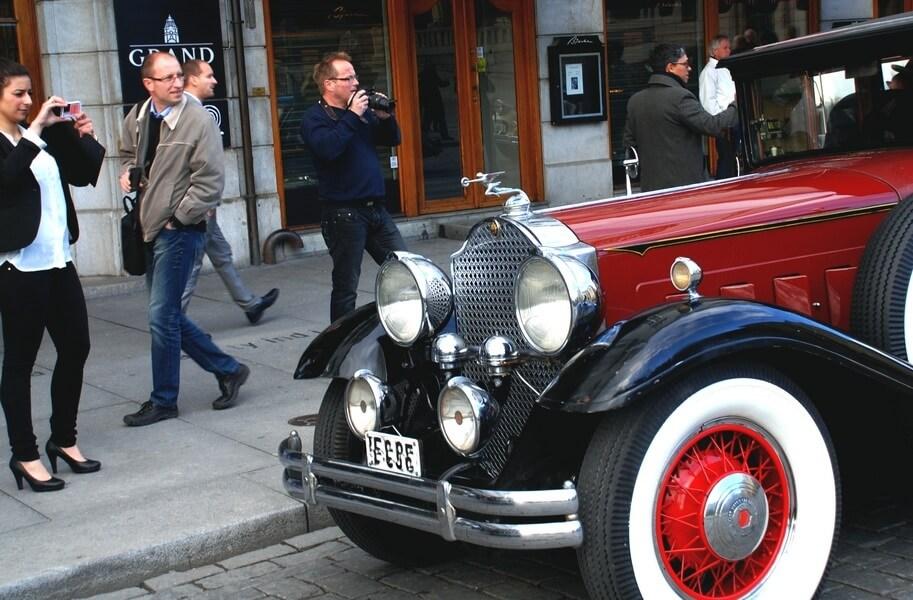 1934 Packard utenfor Grand hotell