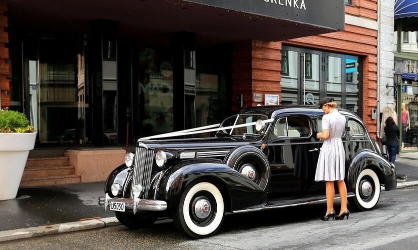 1938 Packard Oslo Christin sjåfør