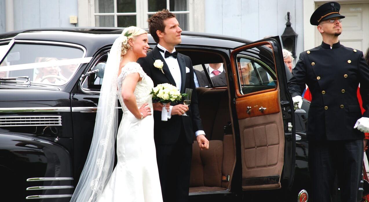 Fornøyd brudepar