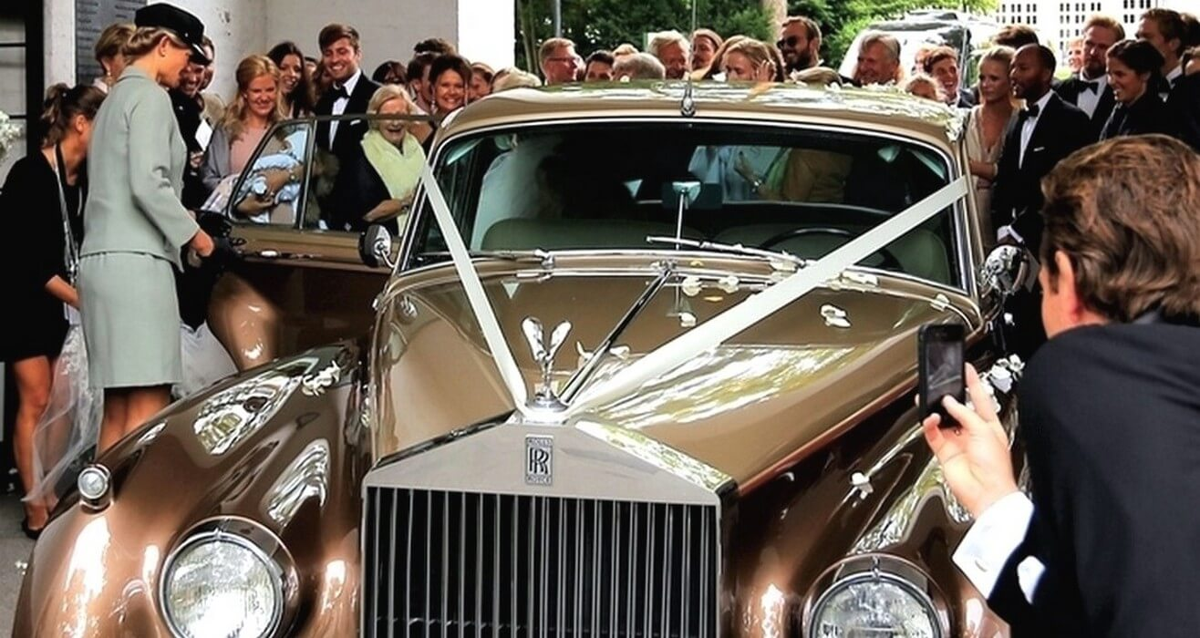 Rolls Royce i gull