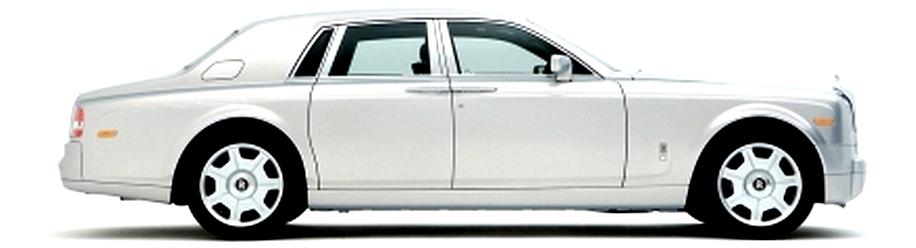 Hvit Rolls-Royce Ghost av nyeste modell